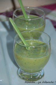 Gaspacho concombre et pomme