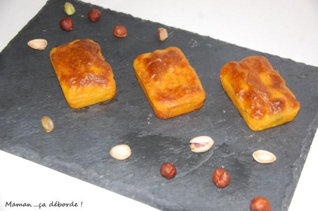 Brownie salé carotte pistache noisette