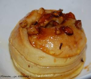 Pomme au four miel et noisette