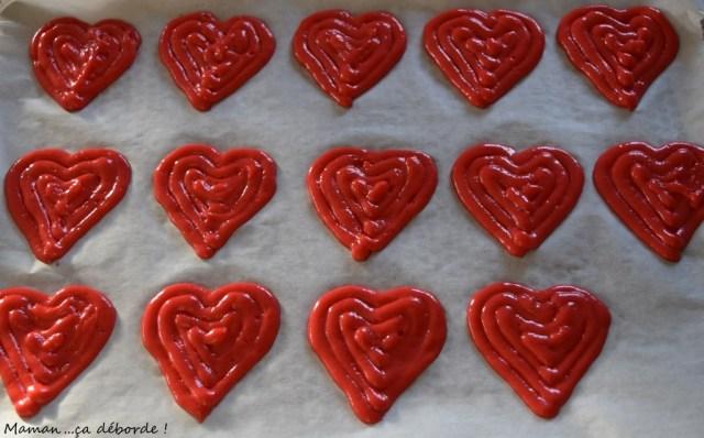Whoopies coeur fraise et vanille