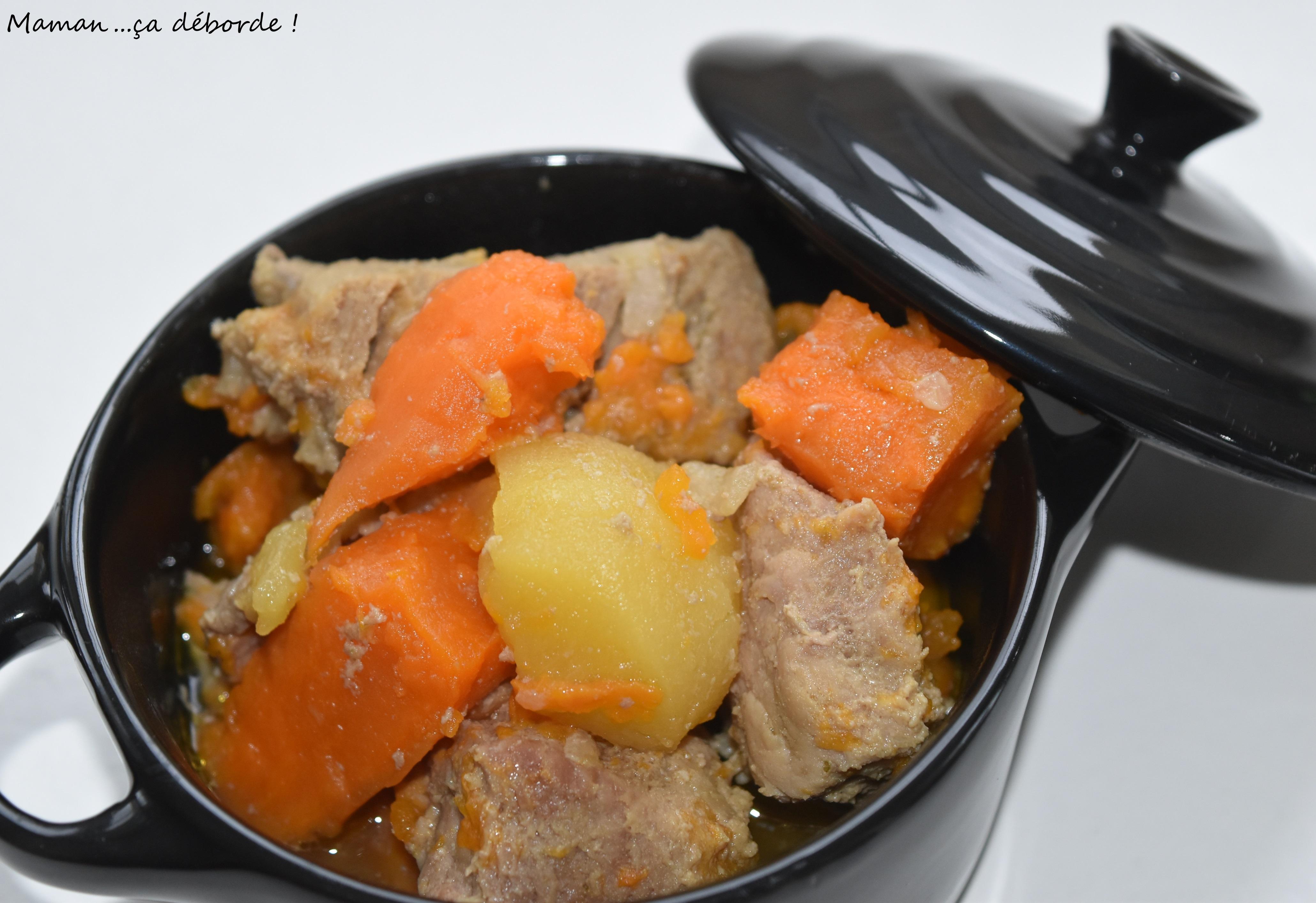Filet mignon au sirop d'érable, patates douces et pommes