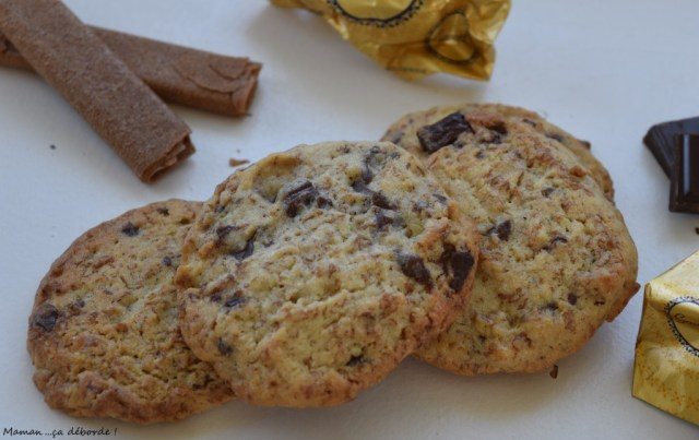 Cookies au gavotte, chocolat et noisettes