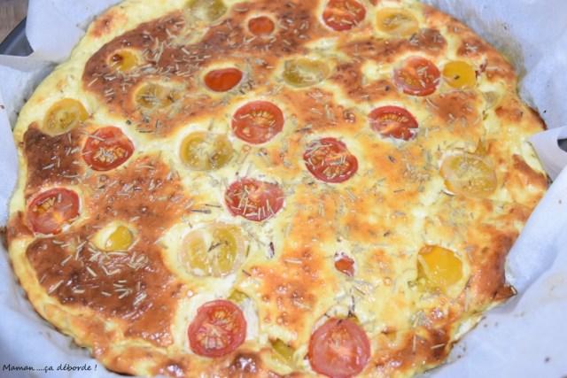 Tarte tomate cerise et chèvre