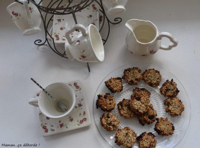 Cookies au banane, flocons d'avoine et coco