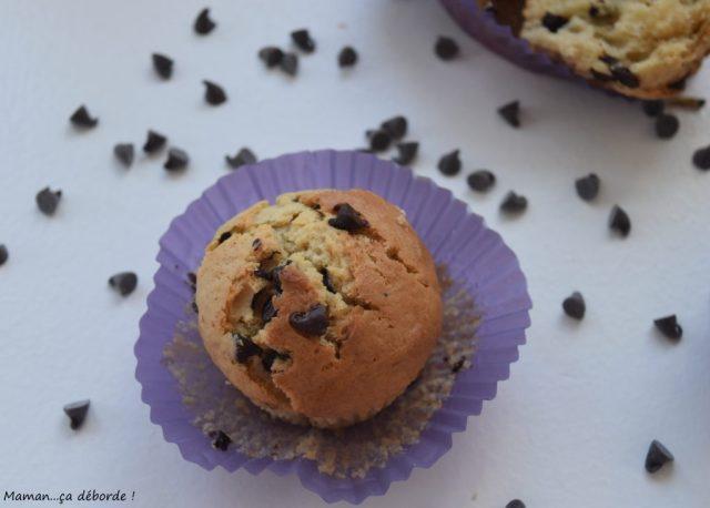 muffins au lait ribot et aux p pites de chocolat maman a d borde. Black Bedroom Furniture Sets. Home Design Ideas