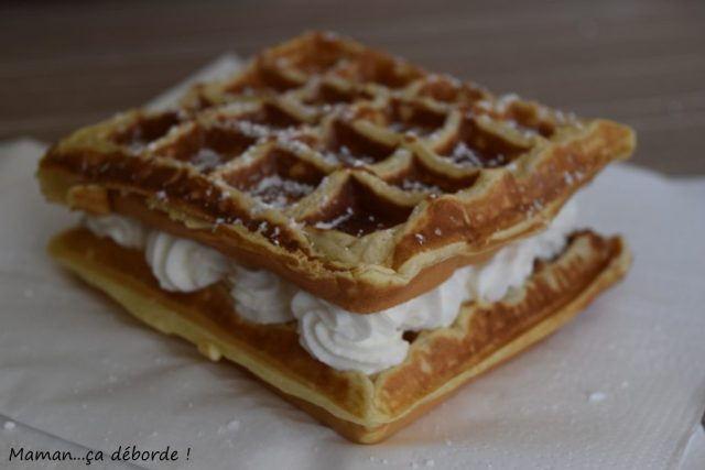Gaufre à la chantilly