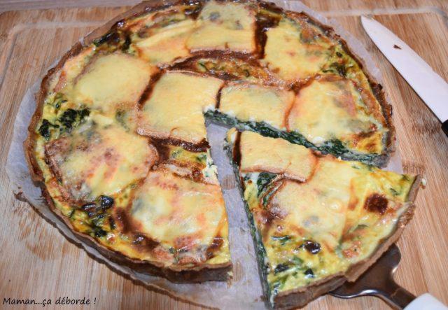 Tarte aux épinards et fromage à raclette