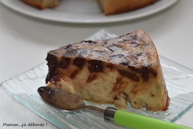 Gâteau de pain poire et chocolat
