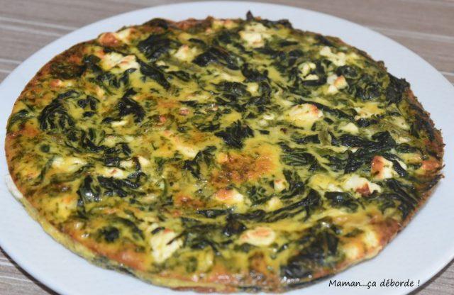Tortilla épinard et feta