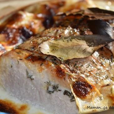 Rôti de porc au lait avec ses pommes de terre fondantes