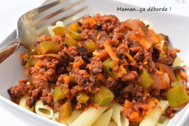 Sauce merguezet poivron (restes de barbecue)