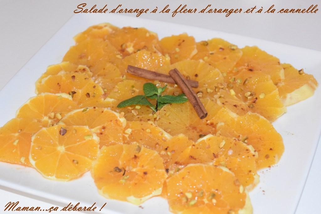Salade d'orange à la fleur d'oranger et cannelle