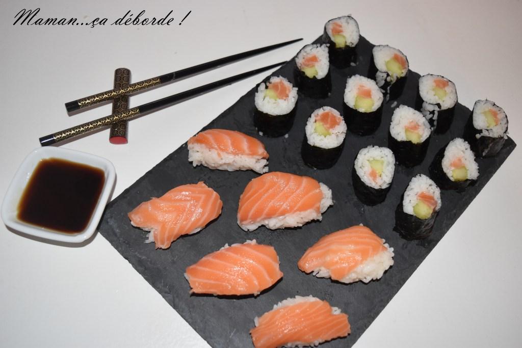 Makis et sushis au saumon