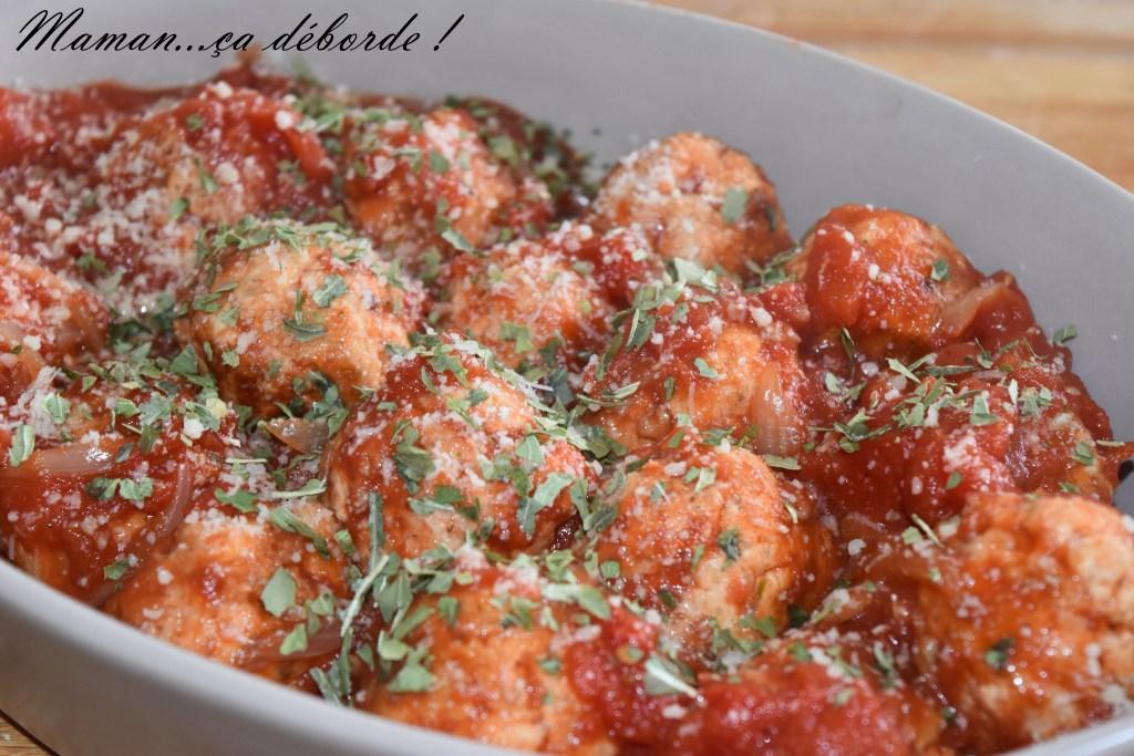 Boulette de dinde à la tomate