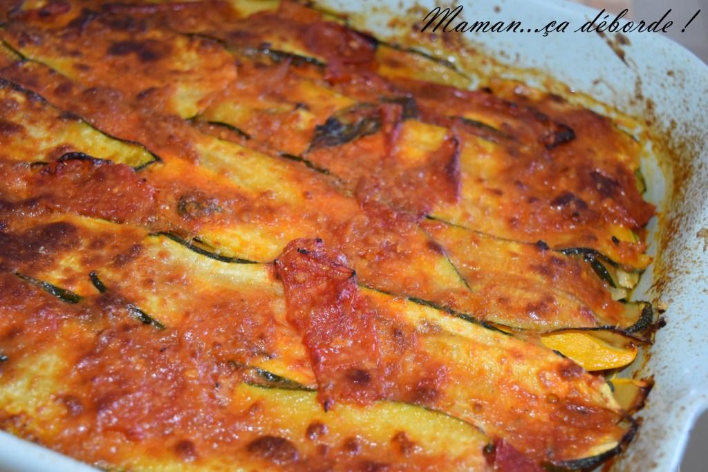 Courgettes à la parmagiana