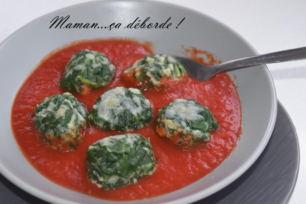 Boulettes de blettes à la tomate