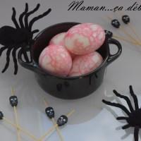 Oeufs marbrés - Halloween