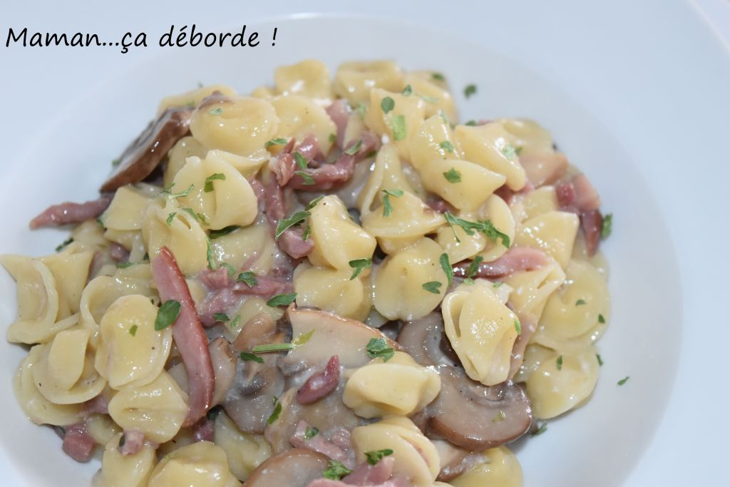 One pot pasta champignon et bacon