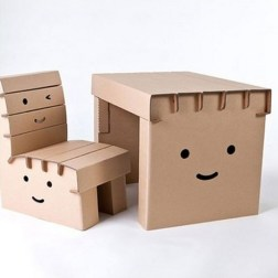 Bureau Enfant en Carton - Wadiga