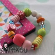 Bracelet de perles en bois