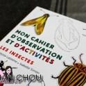 Mon cahier d'observation et d'activités, les insectes