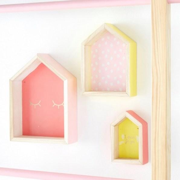 Les 3 étagères maisons Color