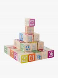 40 cubes en bois multi activités