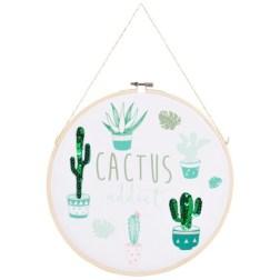 Tambour mural imprimé cactus