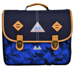 cartable camo bleu