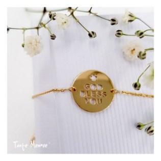 Bracelet message tante menoue god bless you