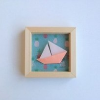 Cadre origami bateau corail Alfred et Compagnie
