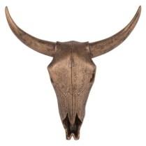 Trophée tête de buffle coloris bronze