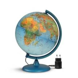 Globe illustré lumineux et son livret création oxybul