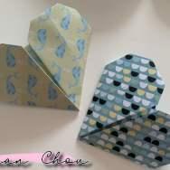 Coeurs en origami