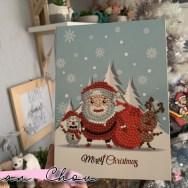 Carte de Noël en broderie Diamant