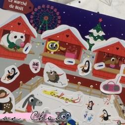 Scènes de Noël en stickers