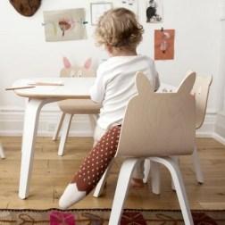 Lot de 2 chaises enfant Play dossier Lapin en bouleau naturel Oeuf NYC