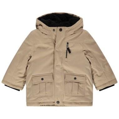Parka à poches et capuche doublée sherpa