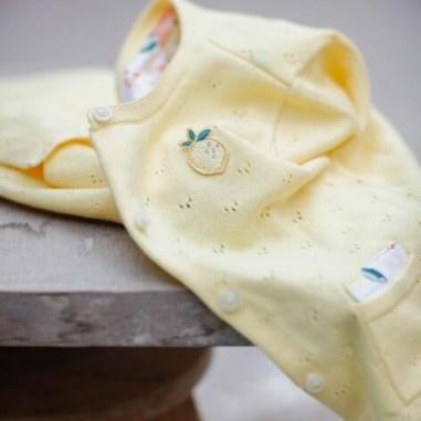 Cardigan jaune en maille