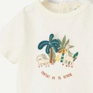 T-shirt écru imprimé animaux