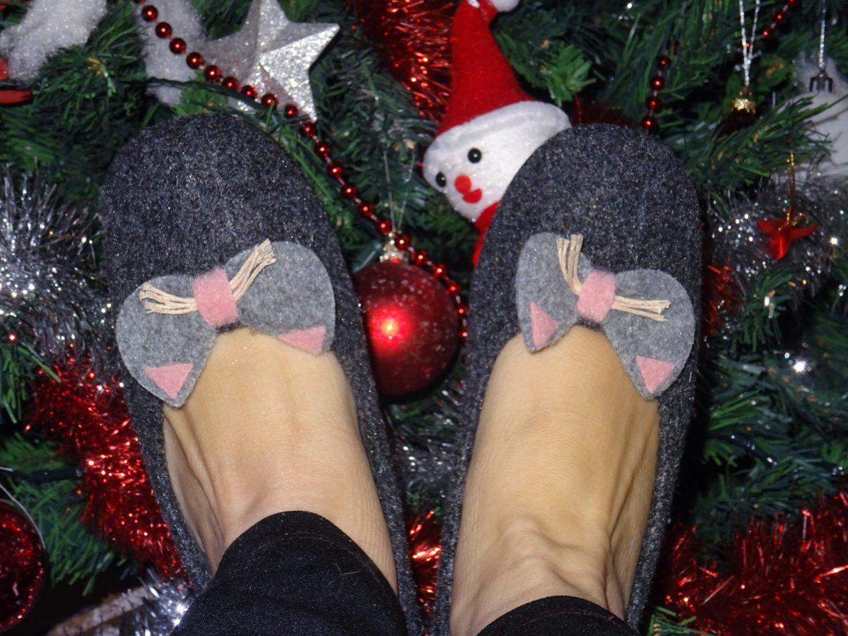 Mes pantoufles pour l'hiver avec La Pantoufleurie