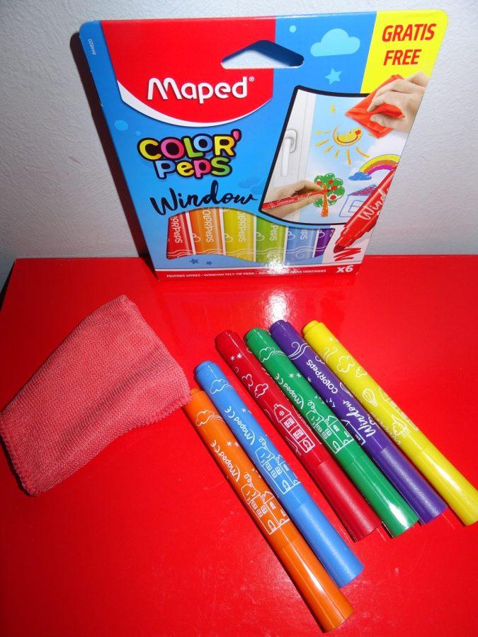 Dessiner sur les vitres c'est fun avec la box Maped Color'Peps