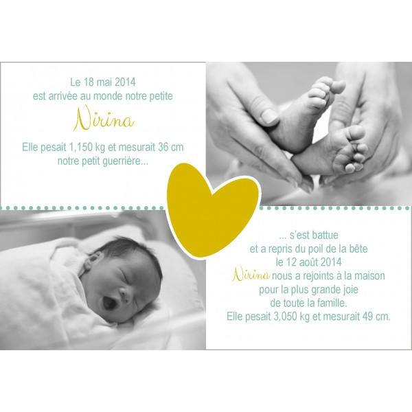 Favori Le faire part de bébé : Coup de Cœur sur Les Faire-Part de Gaspard  YR71