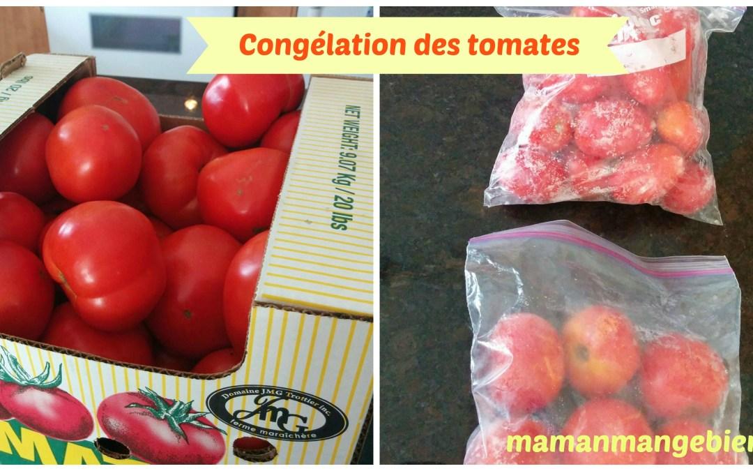 La congélation des tomates