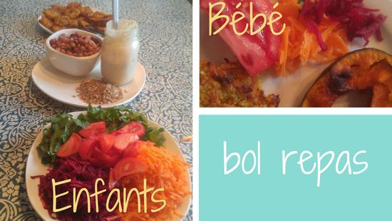 Comment servir les repas en bol aux enfants