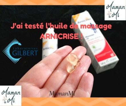 test huile de massage ARNICRISE