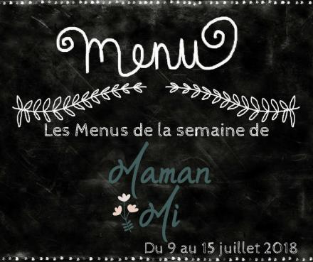 Les Menus de la semaine de MamanMi 26