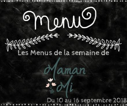 Les Menus de la semaine de MamanMi 34