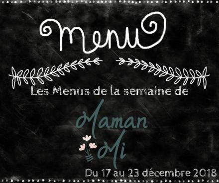 Les Menus de la semaine de MamanMi 48