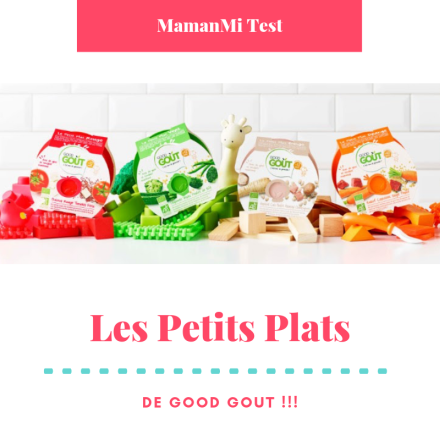 MamanMi Test Good gout petits plats